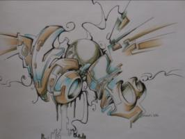Kris van der Velden Schilderijen, (digitale) tekeningen/graffiti
