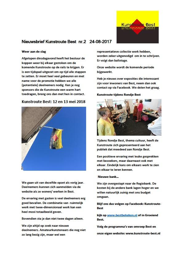 Nieuwsbrief KRB nr 2 - 2017