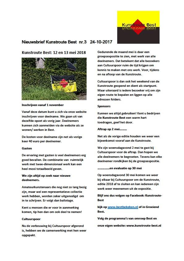 Nieuwsbrief KRB nr 3 - 2017