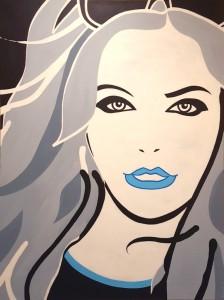 Glamourgirl-acryl-120x160 cm - gecompr