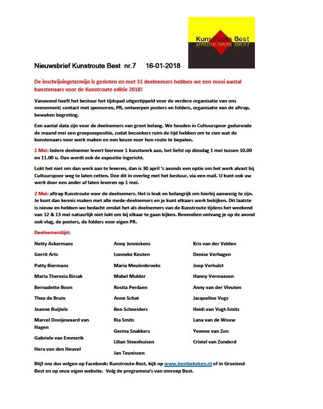 Nieuwsbrief KRB nr 4 - 2017