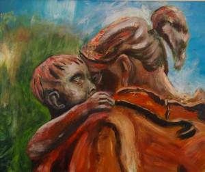 ben-baauw-moeder-en-kind-liefde-acryl-50x60-board